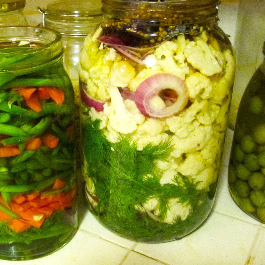 home made vegetable pickles